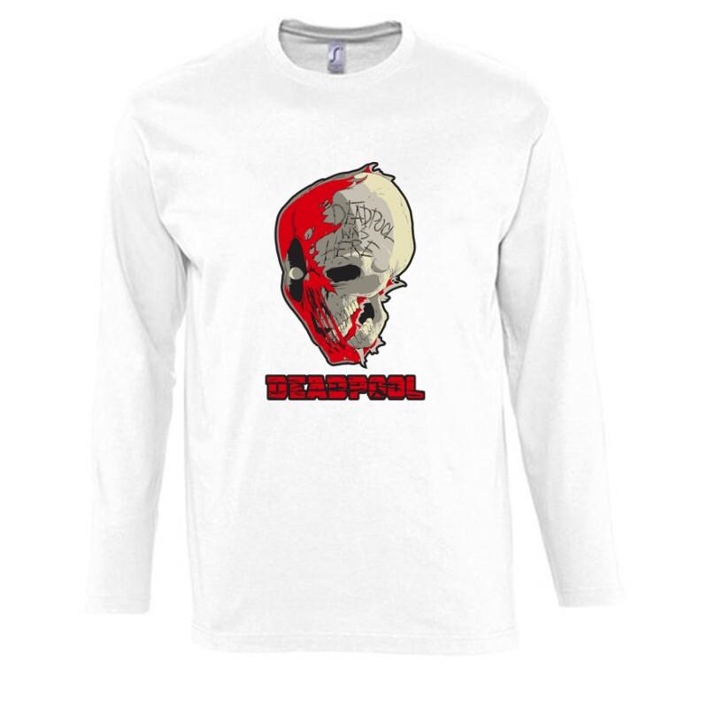 Deadpool Skull Hosszú Ujjú Póló