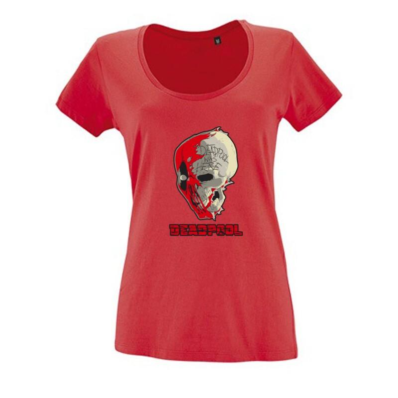 Deadpool Skull Női O Nyakú Póló