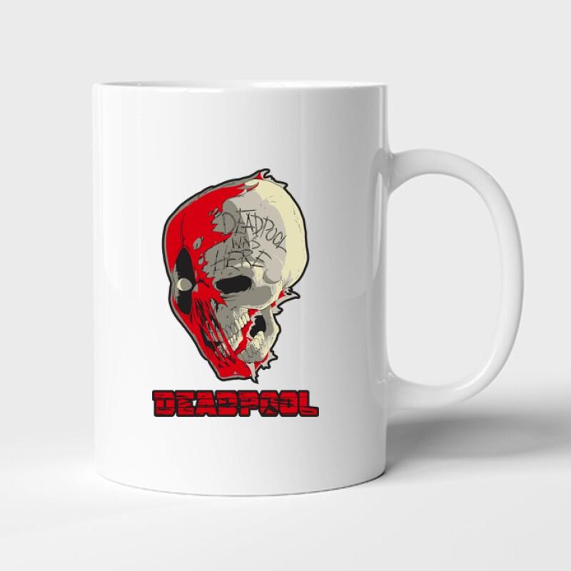 Deadpool Skull Bögre