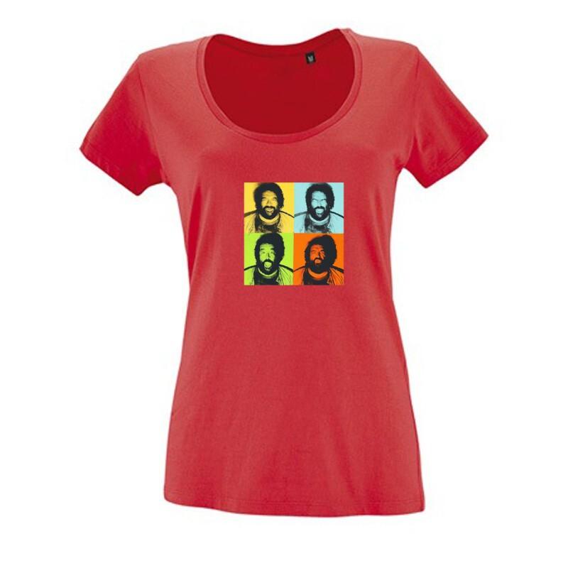4 color Női O Nyakú Póló