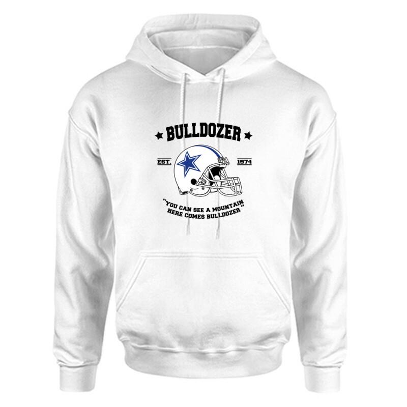 Here comes Bulldozer Unisex Kapucnis Pulcsi