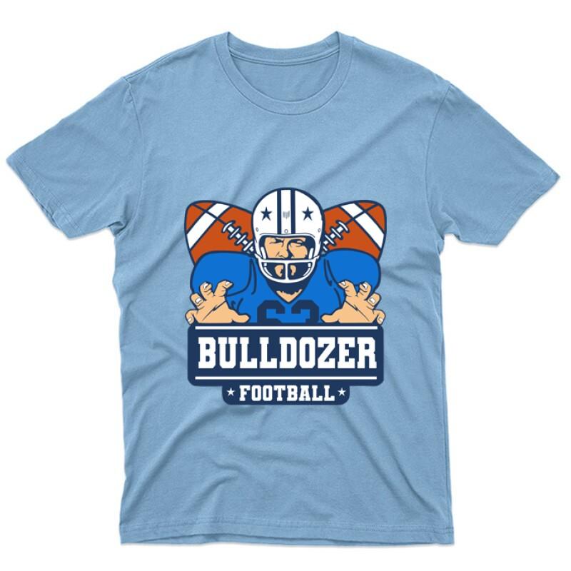 Bulldozer Football Unisex Póló