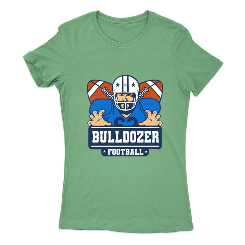 Bulldozer Football Női Póló