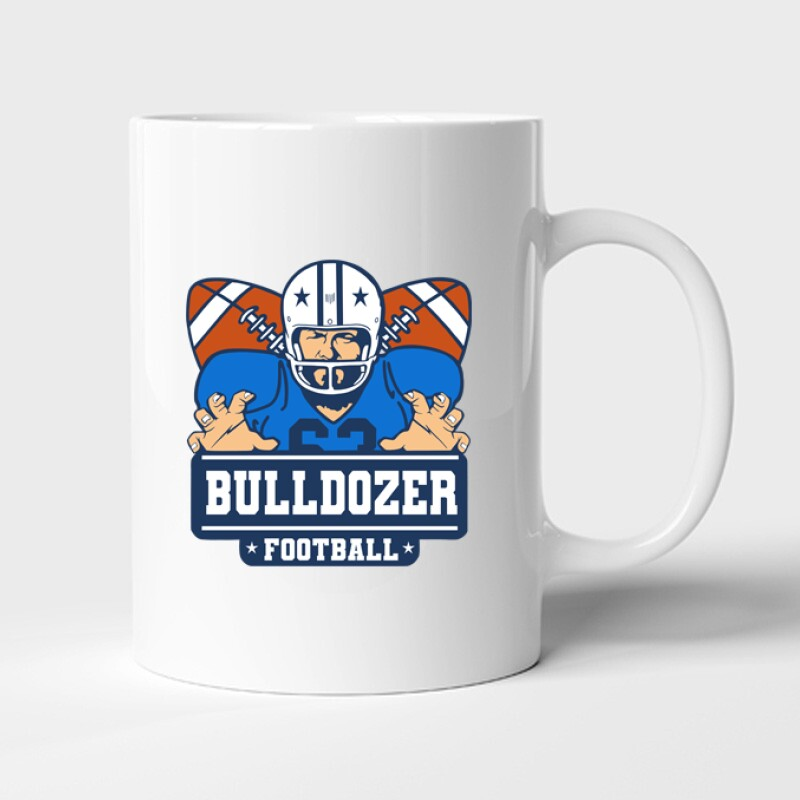 Bulldozer Football Bögre