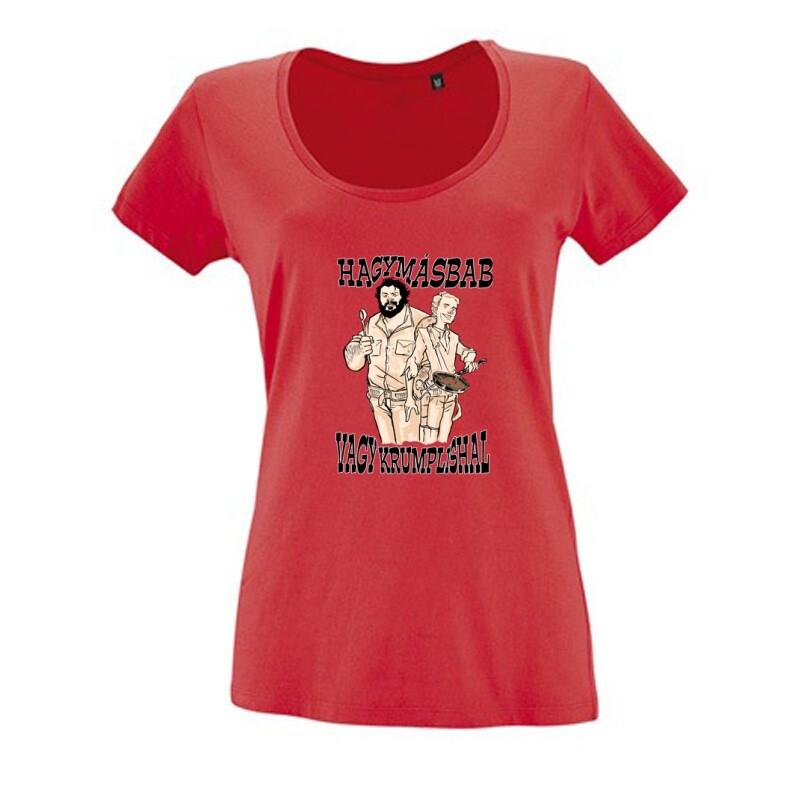 Hagymásbab vagy krumplishal western Női O Nyakú Póló