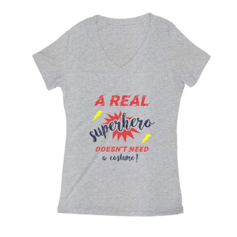 Real Superhero Női V Kivágott póló