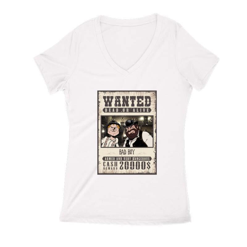 Bad Boy Wanted Női V Kivágott póló