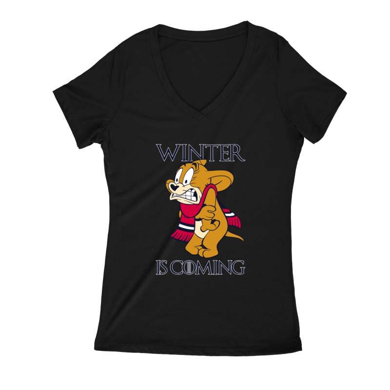Winter is Coming Női V Kivágott póló