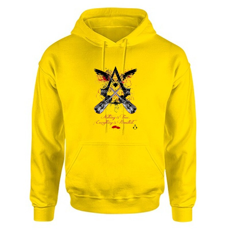 Nothing Is true Everything is permitted Unisex Kapucnis Pulcsi