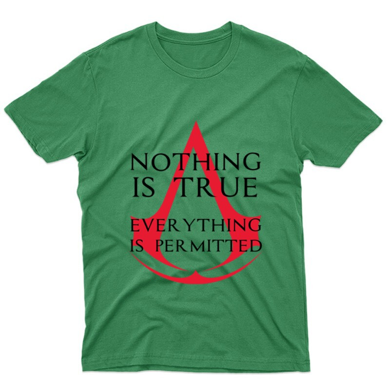 Nothing Is true Everything is permitted Logo Unisex Póló