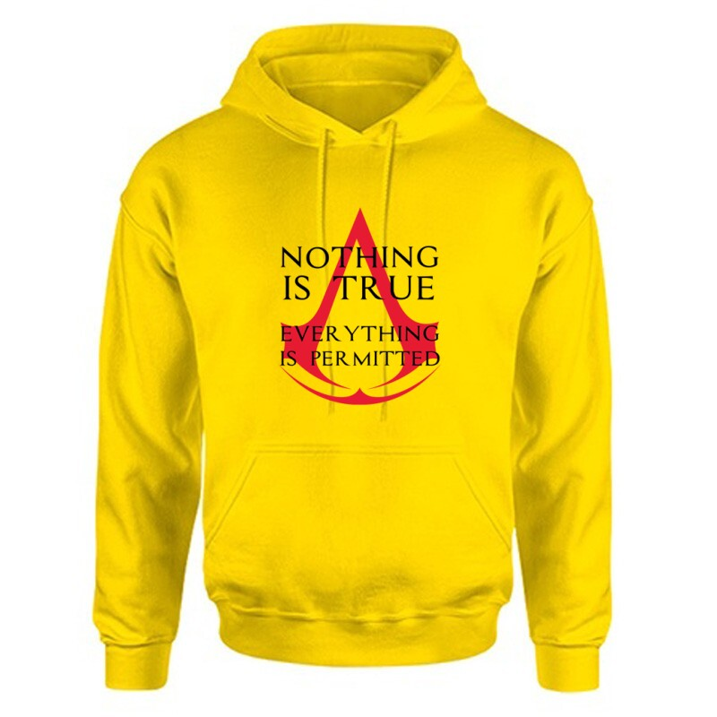 Nothing Is true Everything is permitted Logo Unisex Kapucnis Pulcsi