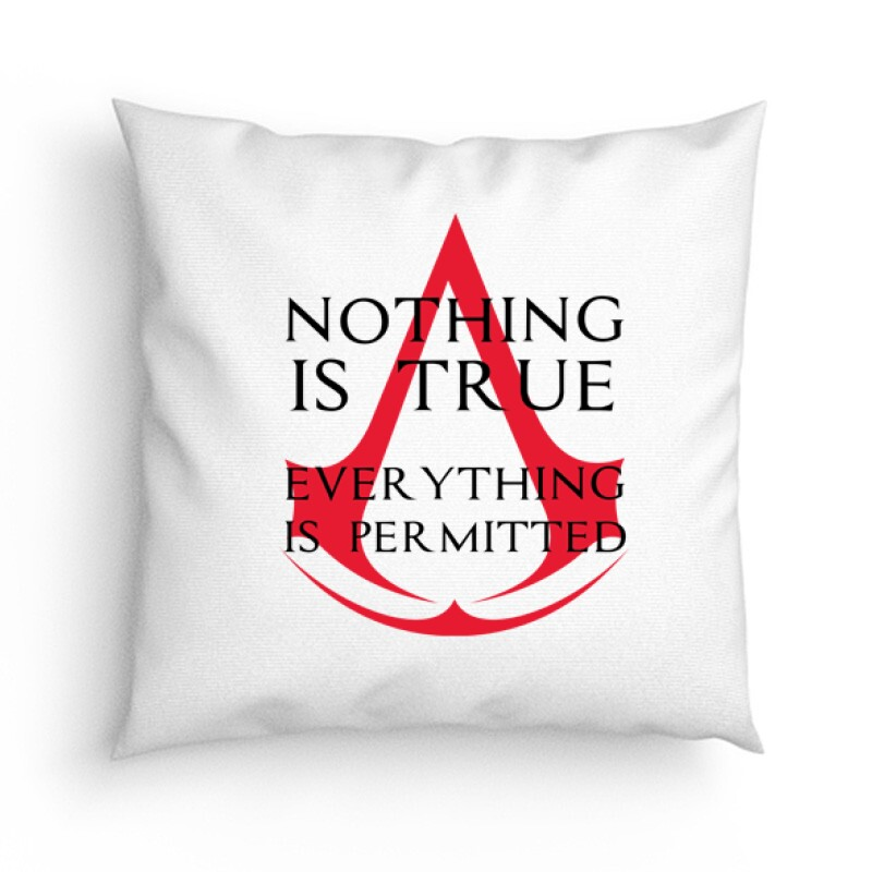 Nothing Is true Everything is permitted Logo Párna