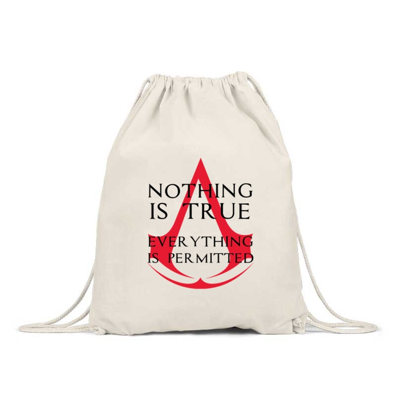 Nothing Is true Everything is permitted Logo Hátizsák