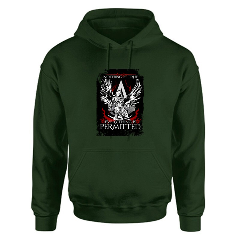 Nothing Is true Everything is permitted AC Unisex Kapucnis Pulcsi