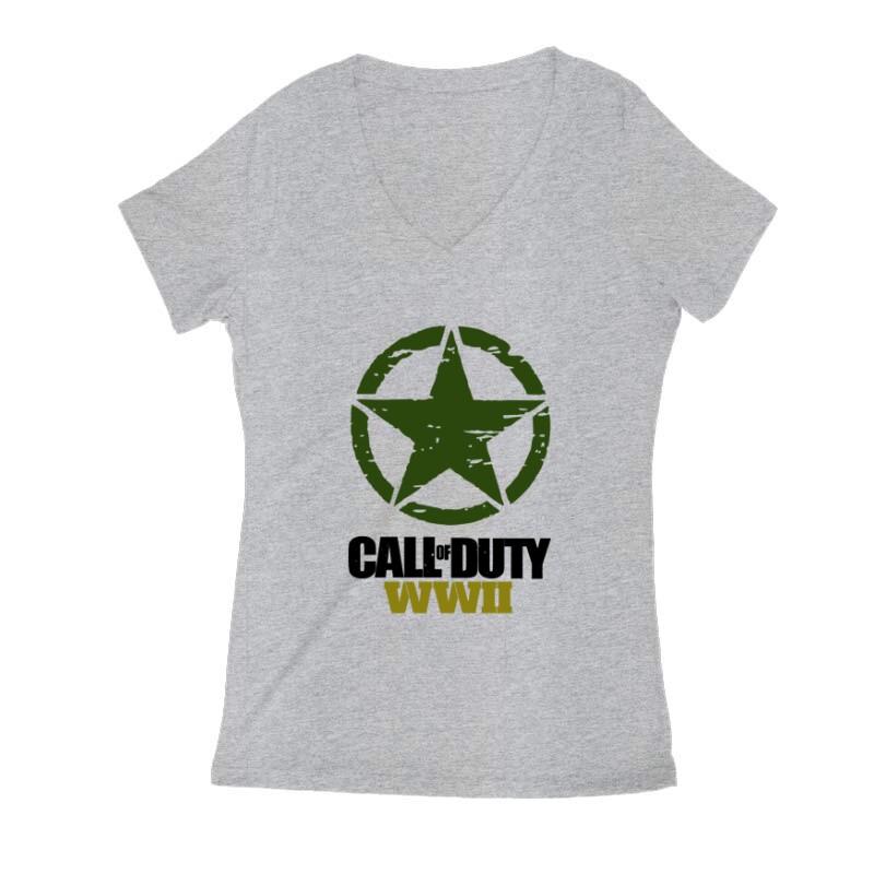 Call of Duty WWII Női V Kivágott póló