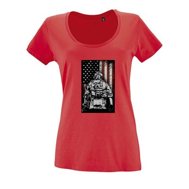 COD Patriot Női O Nyakú Póló