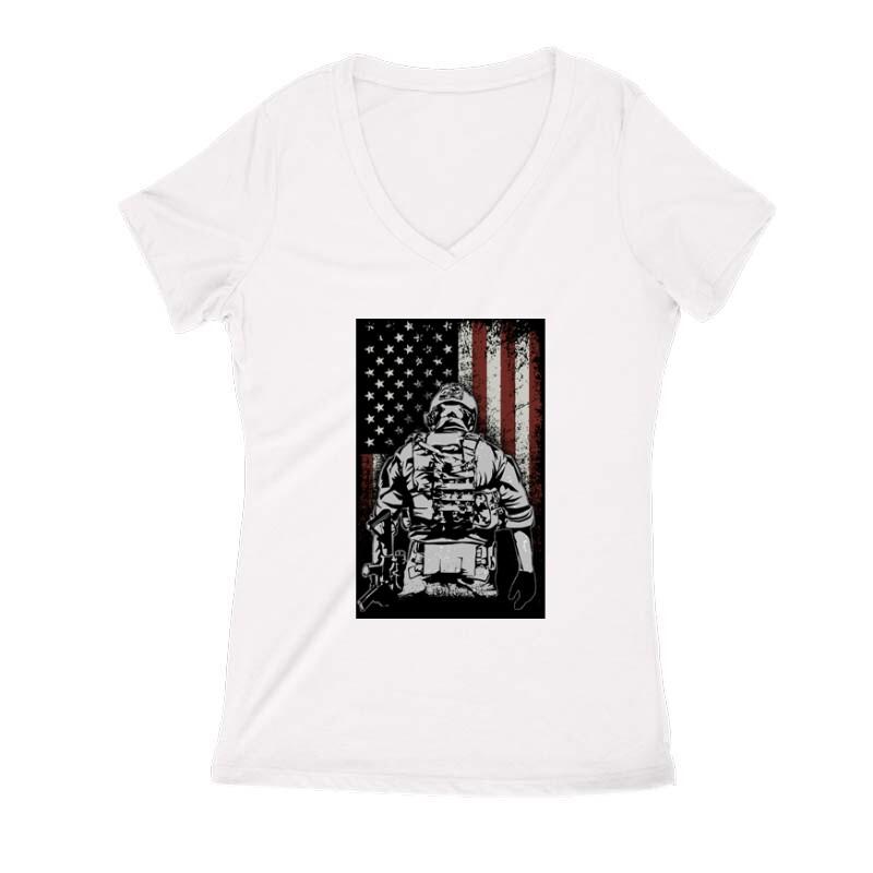 COD Patriot Női V Kivágott póló