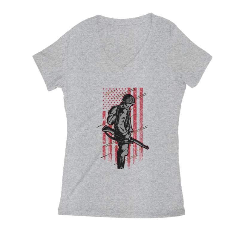 COD Patriot 2 Női V Kivágott póló