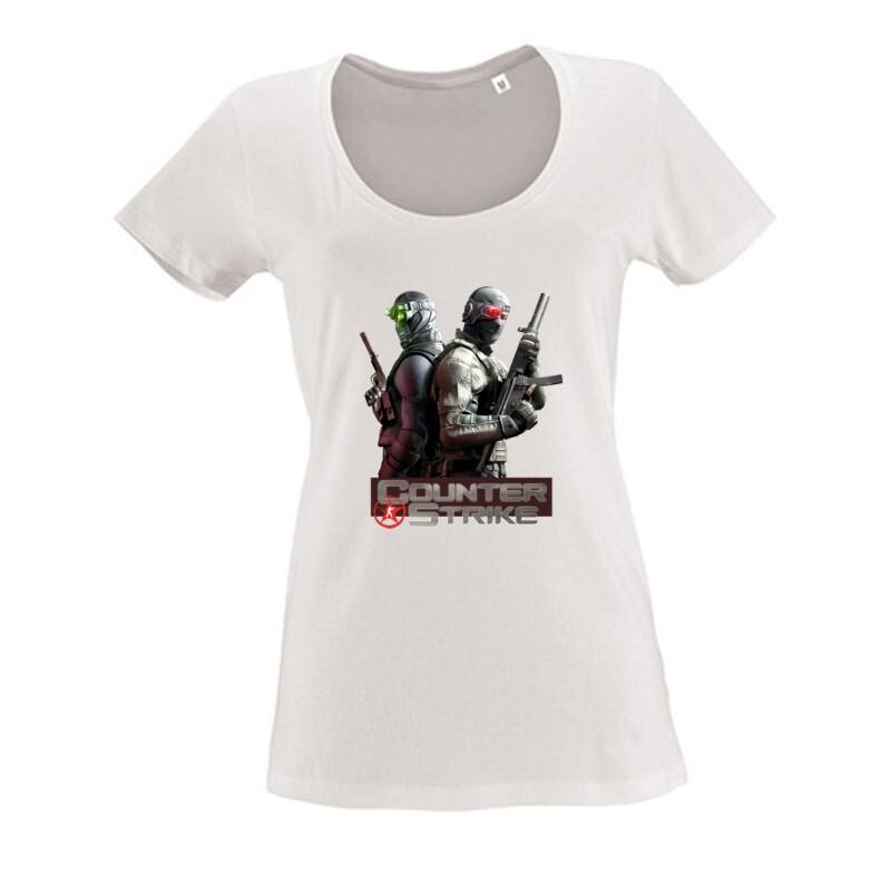 Counter Strike Női O Nyakú Póló