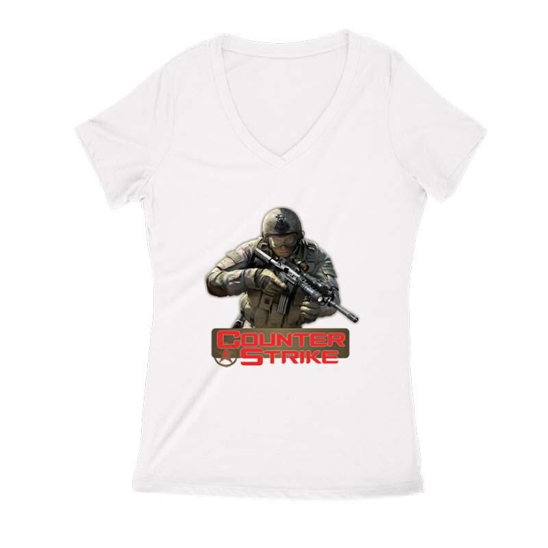 Counter Strike 2 Női V Kivágott póló