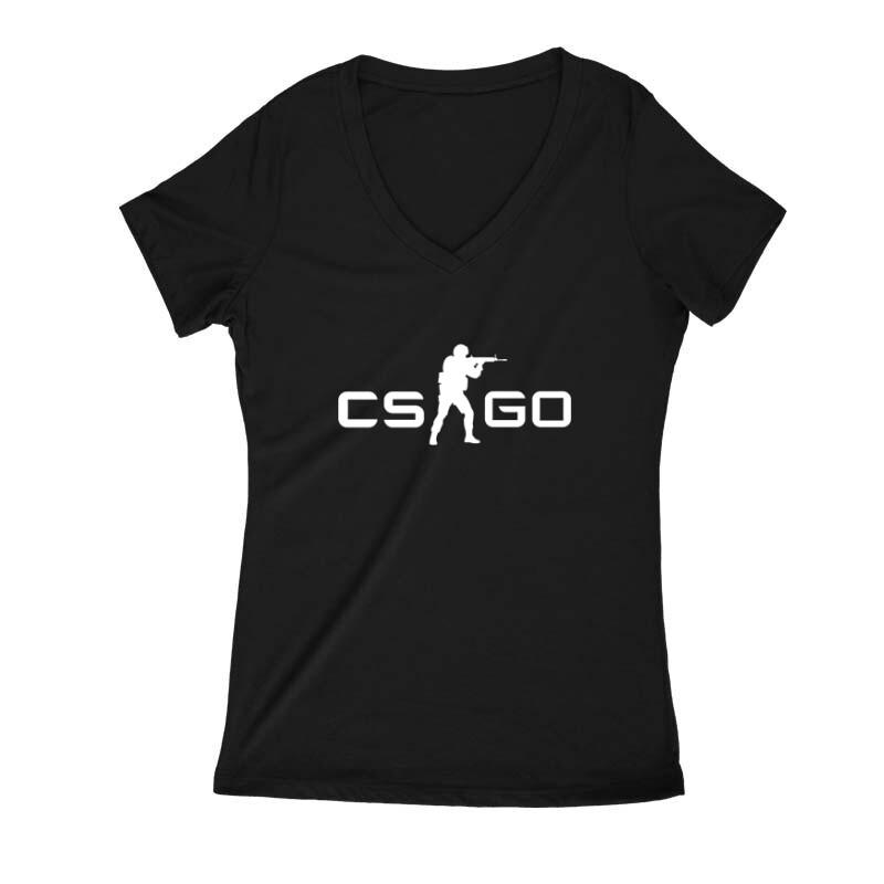 CSGO Női V Kivágott póló