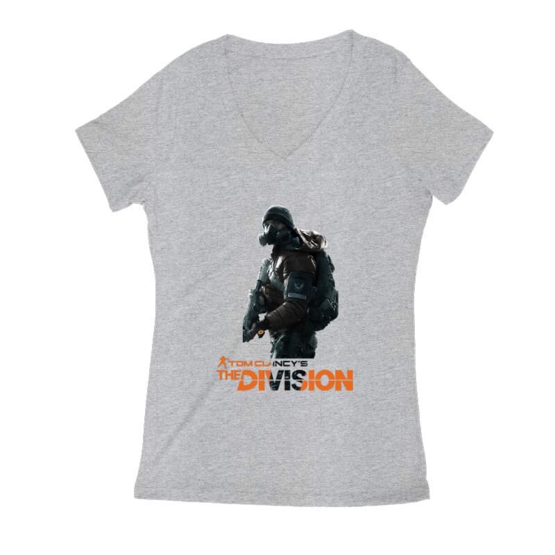 Division soldier Női V Kivágott póló