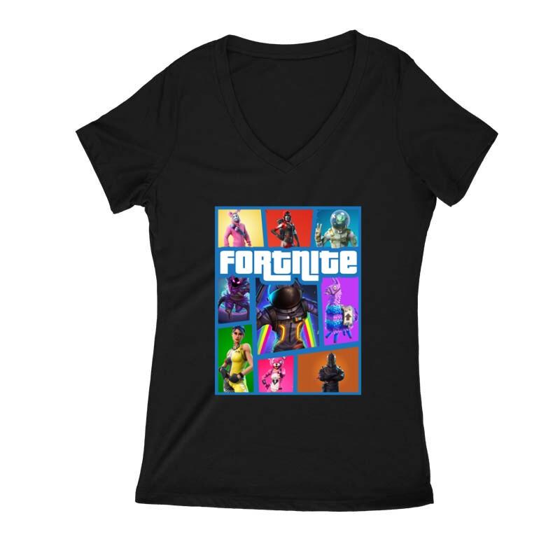 Fortnite GTA Női V Kivágott póló