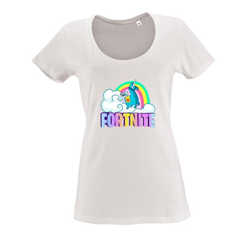 Lama Fortnite Női O Nyakú Póló