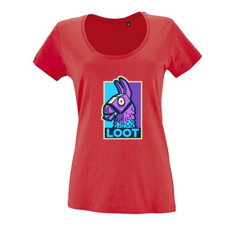 Loot Lama Női O Nyakú Póló