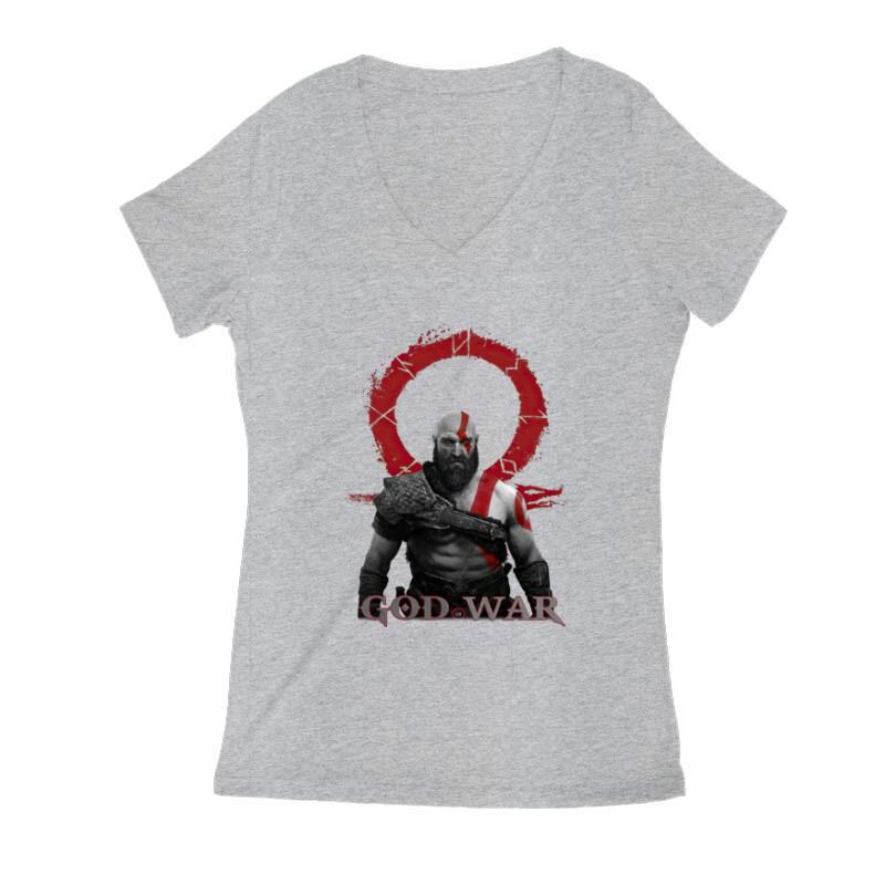 God of War Kratos Női V Kivágott póló