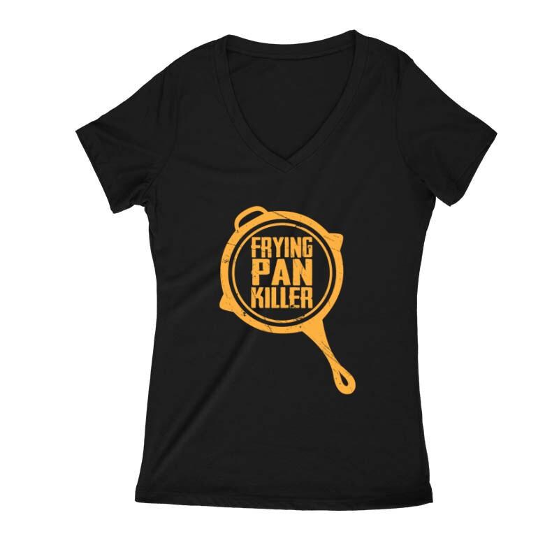 Frying pan killer Női V Kivágott póló