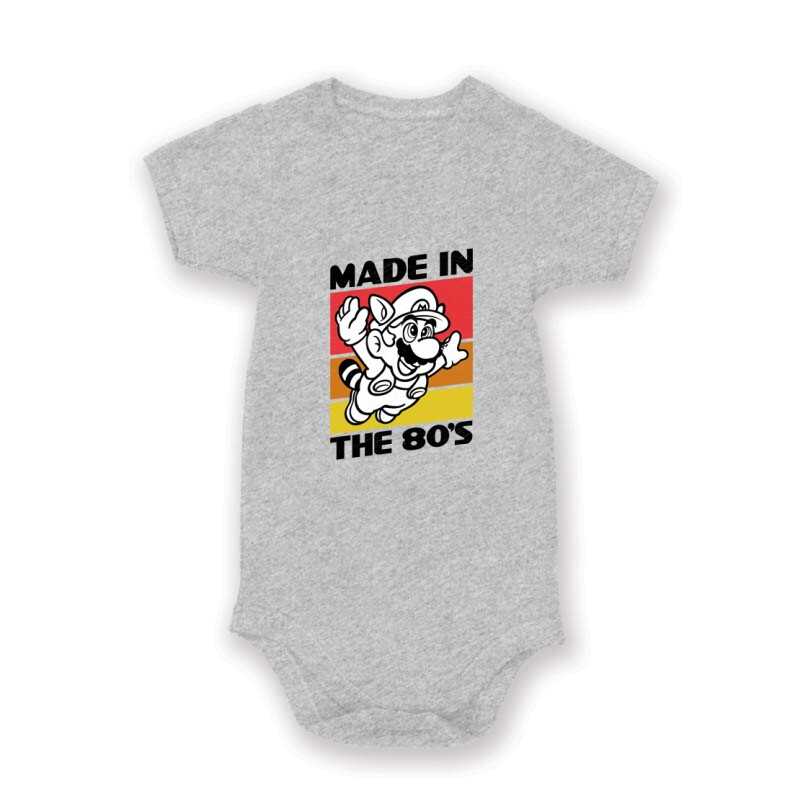 Made in the 80's Mario Baby Body