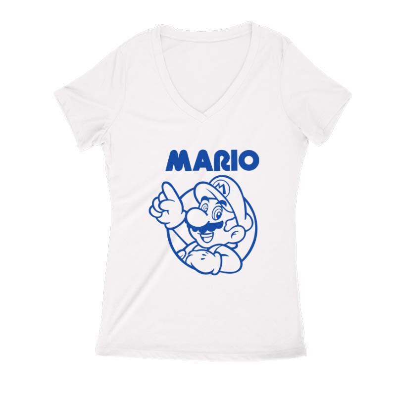 Mario old 2 Női V Kivágott póló