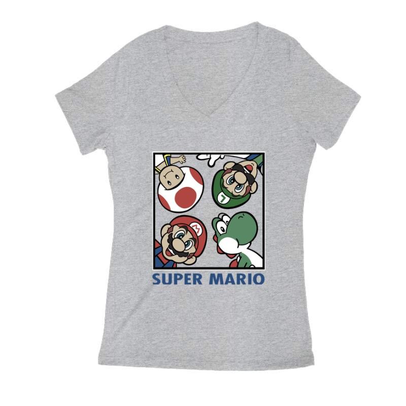 Supermario Női V Kivágott póló