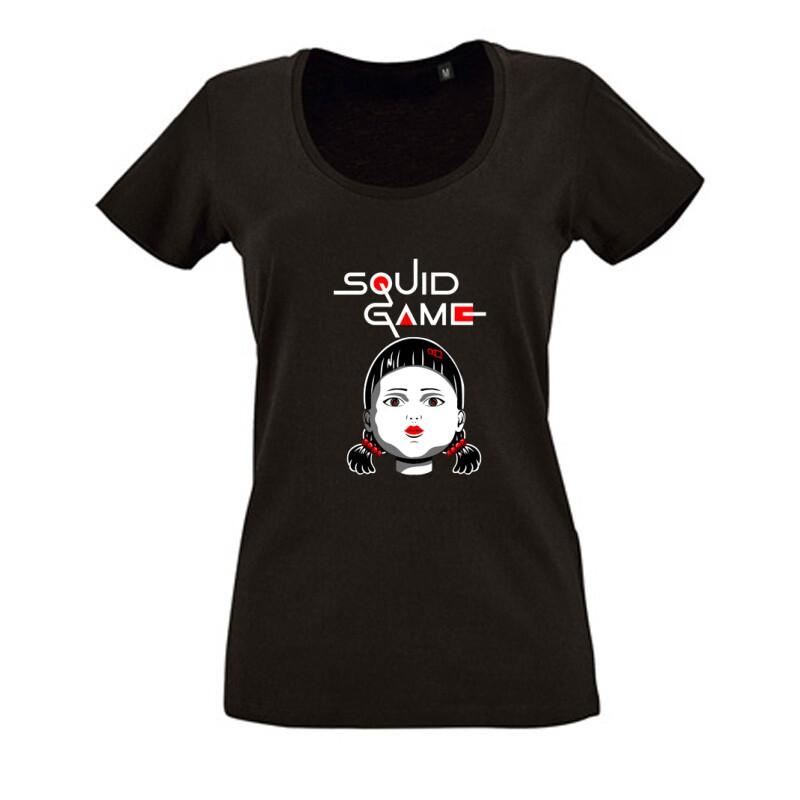 Squid game Doll Női O Nyakú Póló