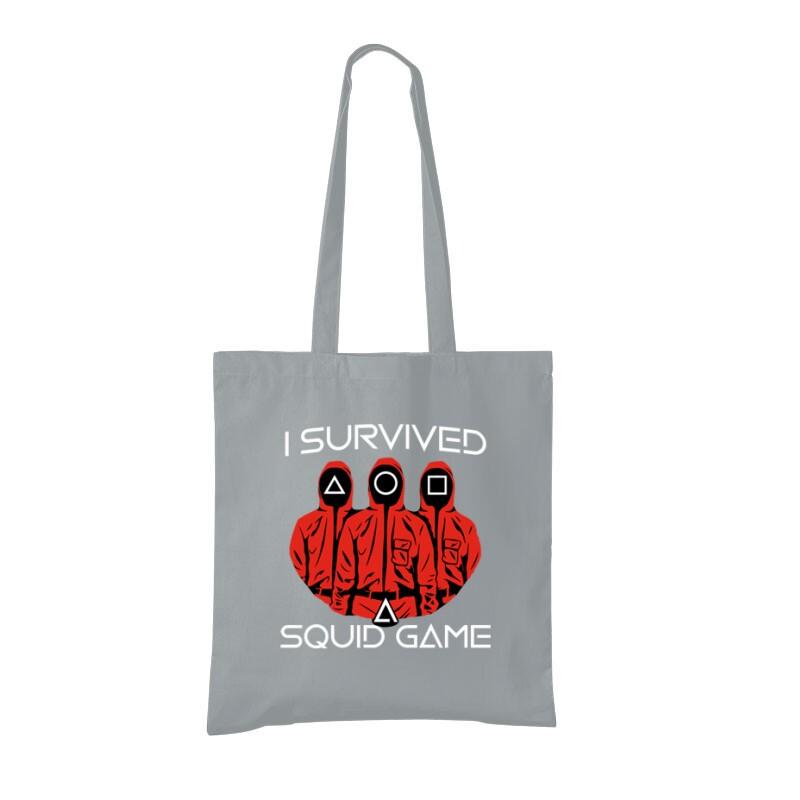 Squid game I Survived Bevásárló Táska