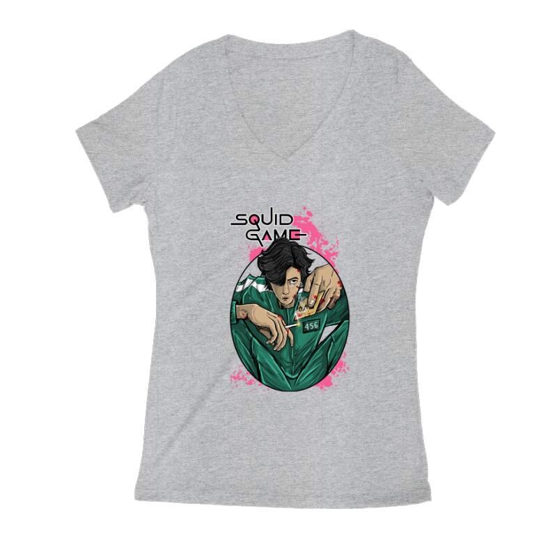 Squid game Seong Gi-hun Női V Kivágott póló