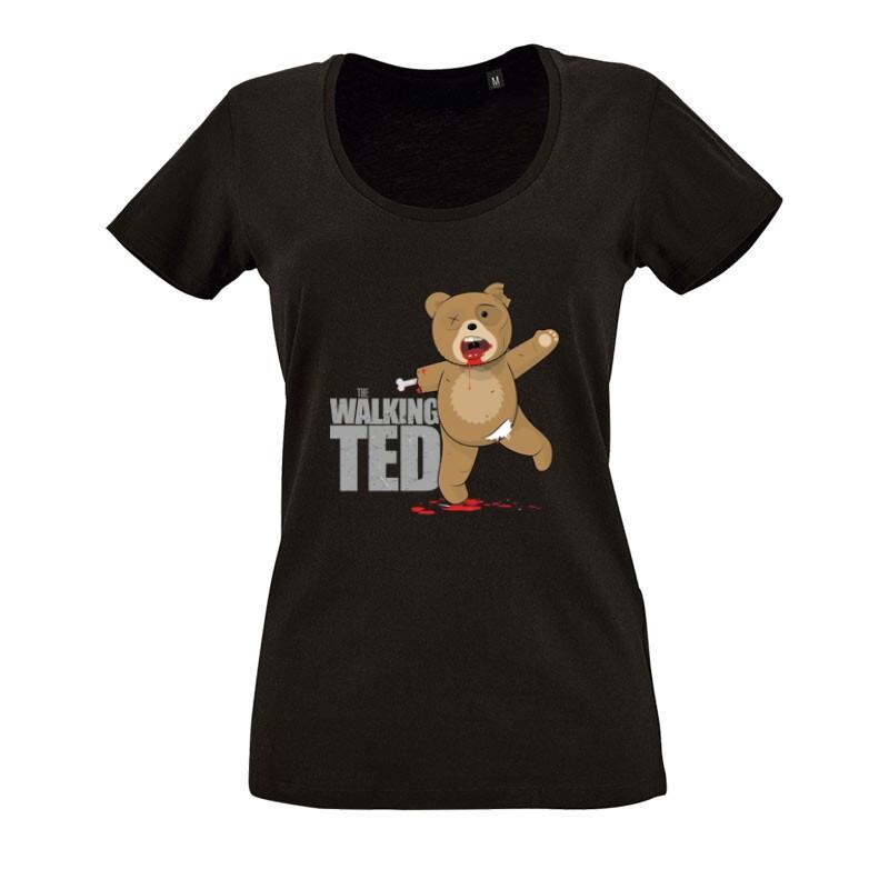 The Walking Ted O nyakú női póló