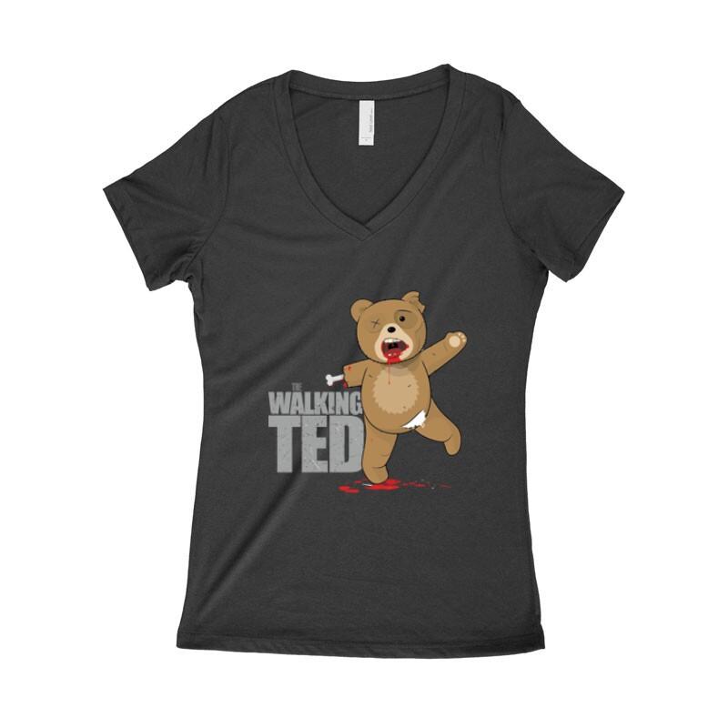 The Walking Ted Női póló V kivágott