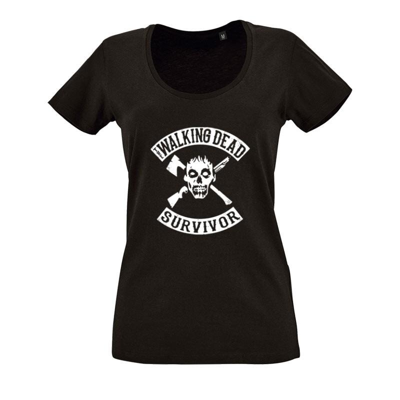 Survivor O nyakú női póló