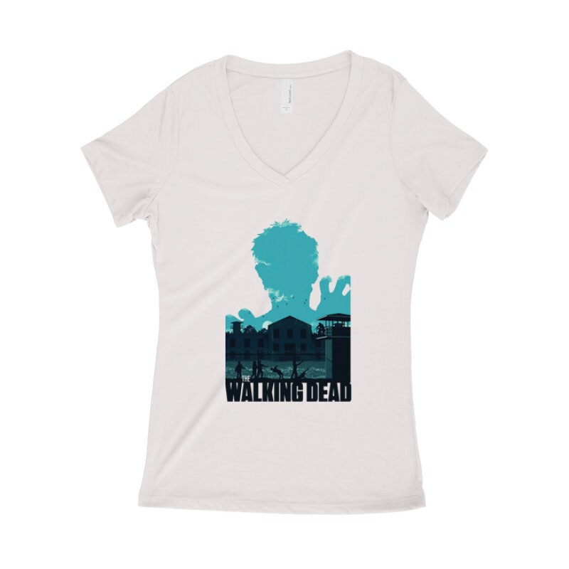 Prison Női póló V kivágott