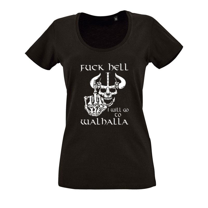 Fuck Hell O nyakú női póló