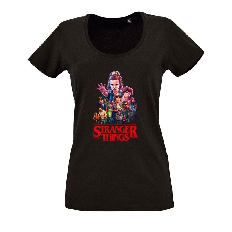 Stranger Things_1 O nyakú női póló