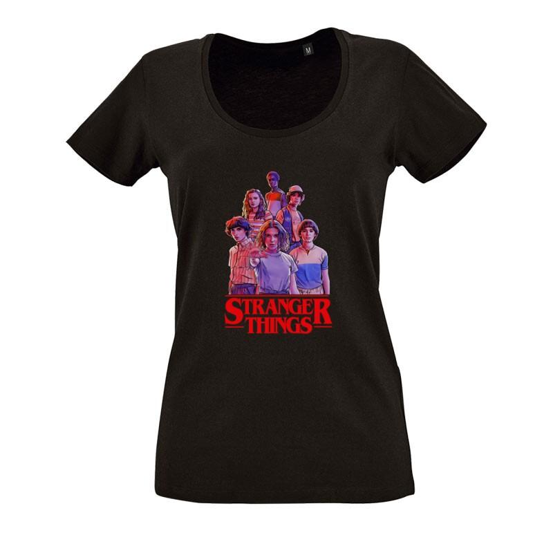 Stranger Things_2 O nyakú női póló
