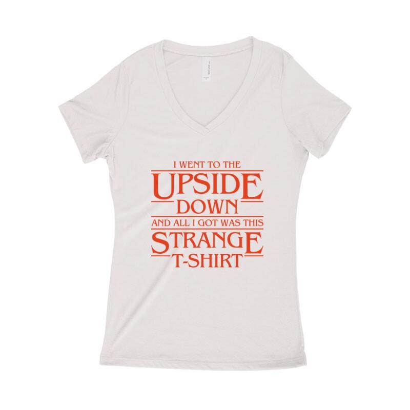 Strange Tshirt Női póló V kivágott