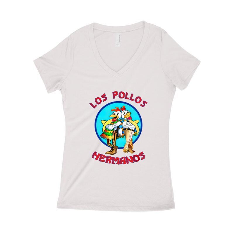 Los Pollos Hermanos Női póló V kivágott