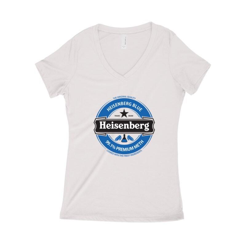 Heisenberg Blue Logo Női póló V kivágott