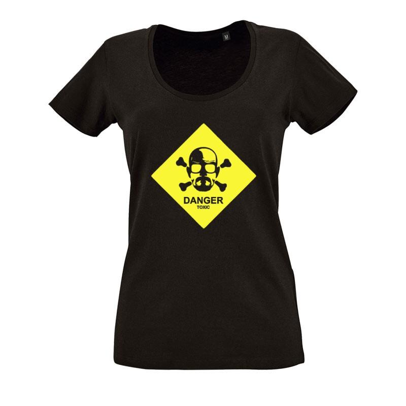 Danger Toxic O nyakú női póló