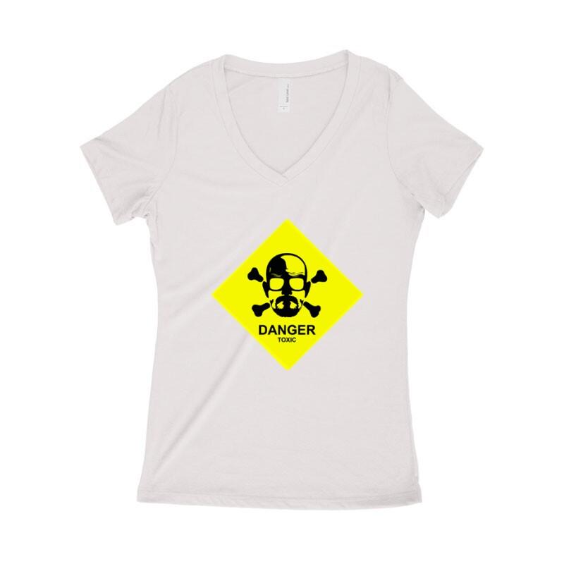 Danger Toxic Női póló V kivágott