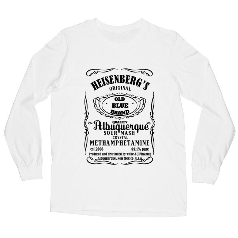 Heisenberg Whiskey Label Hosszú ujjú póló